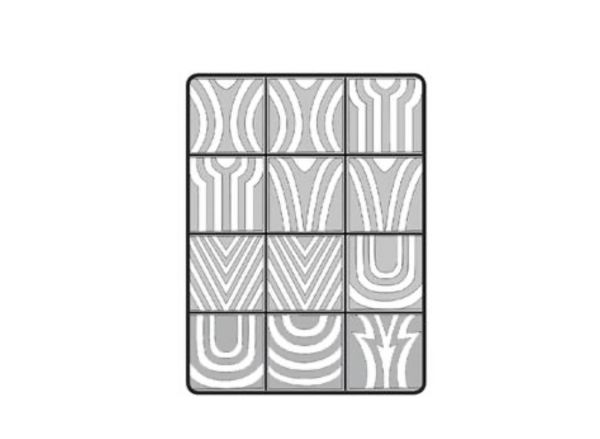 Airbrush Schablone Geometric Ombre