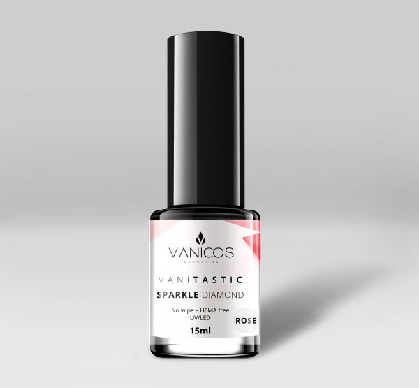 VANICOS VANITASTIC  SPARKLE DIAMOND Rose Topgel  15ml