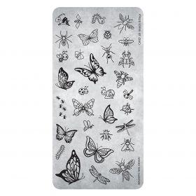 Stempelplatte Insekten und Schmetterlinge