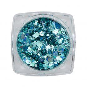 Metal Inlay  Blau