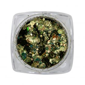 Metal Inlay  Green Gold