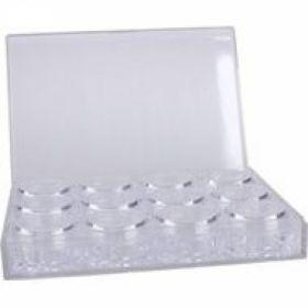 Box mit 12 Leertiegel 3gr